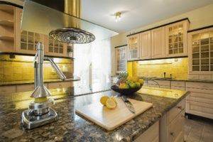 kitchen with granite coutnertops